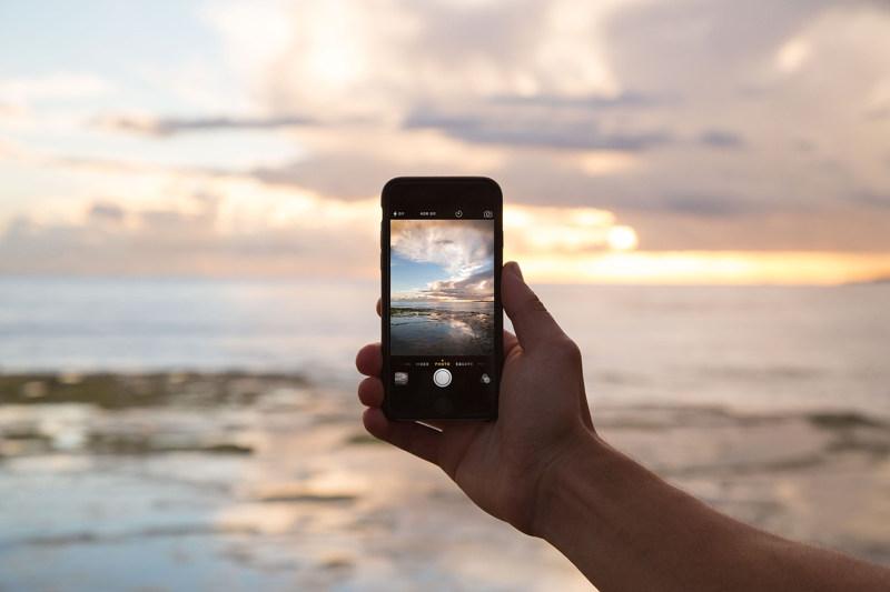 iphone camera taking photo of sky