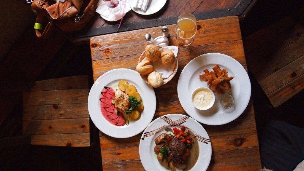 nice platter of food on table